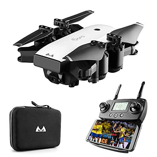 DCLINA Droni Pieghevoli con Fotocamera 1080p HD 5G WiFi Trasmissione Live e Controllo vocale, Ritorno Automatico, 18 Minuti Volo, trasferimento Immagini Entro 300 m