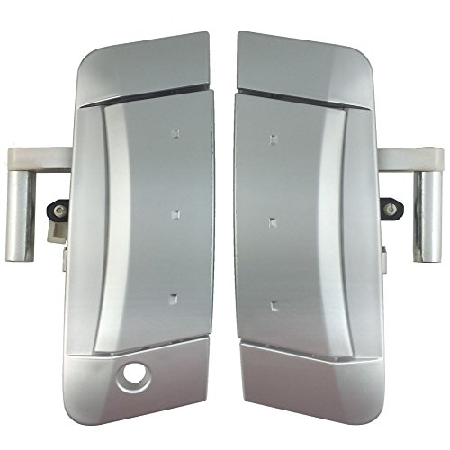 IAMAUTO 69437 Front PAIR Left and Right Exterior Outside Outer Silver Door Handle for 2003 2004 2005 2006 2007 2008 2009 Nissan 350Z
