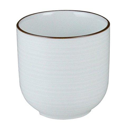 白山陶器 ゆのみ 大 白 (約)φ8×7.5cm 230ml 白磁千段 HAKUJISENDAN 波佐見焼 日本製