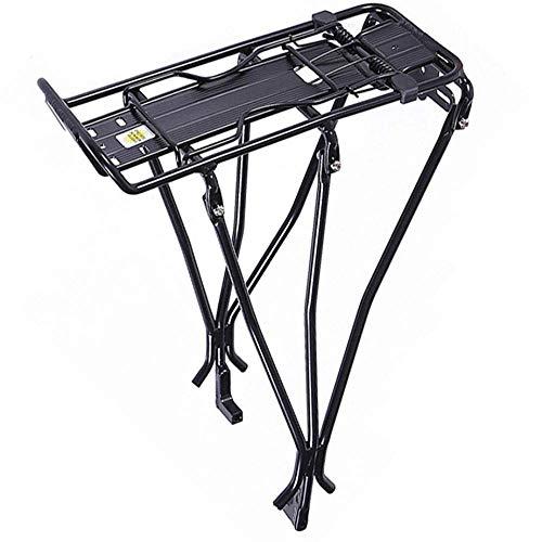 MLHJ Mountainbike schijfremplank, fietstas, zadelbagagedrager, drager, sterke lagercapaciteit, stabiel en stevig, handig (zwart)