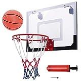 Costway PRO Mini Hoop Canestro da Basket per Interno, con Palla e Pompa, Agganciabile sulla Porta, Standard (45 x 30cm)