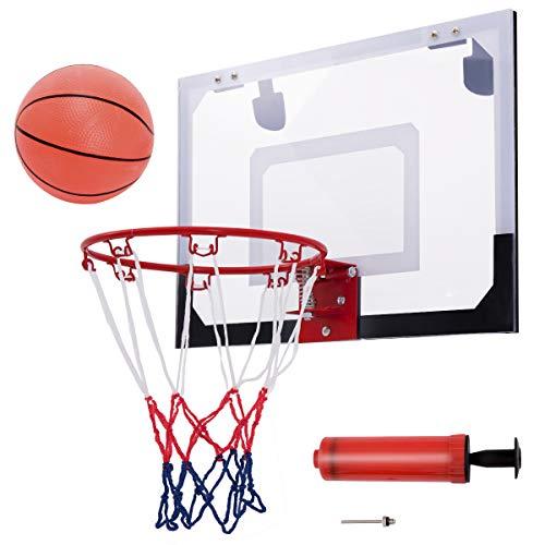 DREAMADE Basketballbrett, Basketball Backboard Basketballboard, Basketballkorb Wandmontage, Basketballbrett mit Korb für Indoor und Outdoor