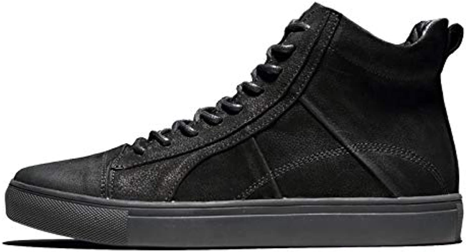 LOVDRAM Boots Men's Martin Boots Men'S Boots Wild Men'S High-Top Casual shoes In The Pu Large Size 46 Winter Tie