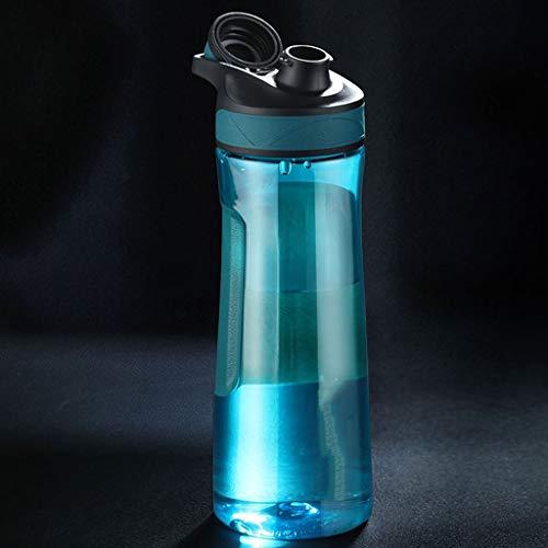 Xu Yuan Jia-Shop Botella de Agua Copa de Agua de Gran Capacidad portátil de plástico Deportes Caldera Verano Gimnasio Hervidor Hervidor Estudiante al Aire Libre Botella de hidro (tamaño : 700m