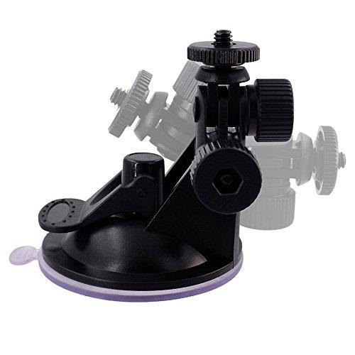 """MyArmor Universal 360 Grad Drehbar Windschutzscheibe Dash Cam Kamera Halterung Auto Saugnapf Halter mit 1/4"""" Gewinde Adapter"""
