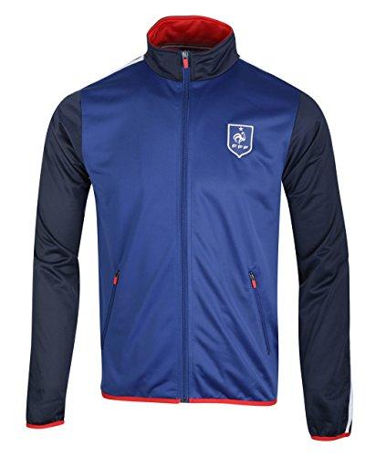 Jacke Reißverschluss FFF–Offizielle Kollektion Equipe de France Fußball–Größe Erwachsene Herren XX-Large blau