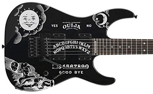 Komplettset Gitarre Ouija Stickers + Inlays Fret Markers Moon & Stars Guitar & Bass (weiß)