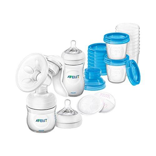 Still-Set mit Handmilchpumpe, SCD221/00, inkl. Natural-Flasche, Aufbewahrungsbechern und Stilleinlagen