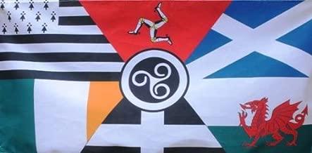 152,4 cm x 91,44 cm (150 x 90 cm) Naciones celtas Brittany chamarilero Escocia Gales Cornwall Irlanda Material bandera