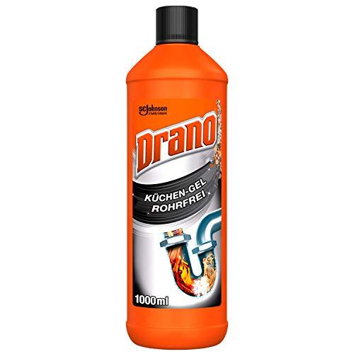 Drano (Mr Muscle) Küchen-Gel Rohrfrei Abflussreiniger, Rohrreiniger für die Küche, entfernt Verstopfungen, 1000 ml