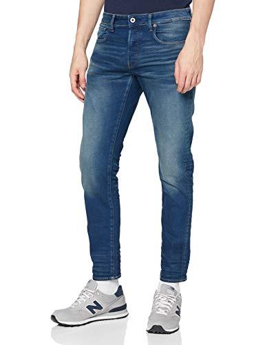 G-STAR RAW Herren 3301 Slim Fit Jeans, Medium Aged 6090-071, 30W / 32L