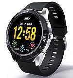 HAOQIN SmartWatch Relojes Inteligentes Fitness Tracker HaoWatch VS1 1.3'Pantalla táctil Completa IP67 Impermeable con Monitor de frecuencia cardíaca Teléfonos compatibles con iPhone y Android Plata