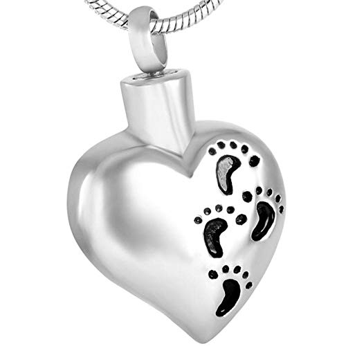 Necklace for Ashes Loss of Baby Dad Mom Memorial Jewelry with Memory Heart Cremation Urn Pendant Funeral Jewelry Pendant Necklace Ashes Urns Cremation Keepsake Memorial
