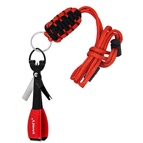 SAMSFX Quick Knot Tool and Fly Fishing Lanyard Necklace Combo...