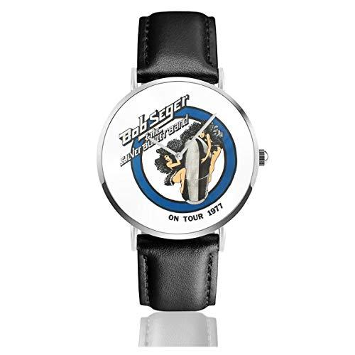Bob Seger ボブ・シーガー 腕時計 時計 メンズカジュアルウォッチ 電池付き クオーツ ステンレススチール 超薄型 超繊pu皮革ベルト ブレスレット おしゃれ ファッション 装飾 男女兼用 母の日 父の日 ブレスレット風