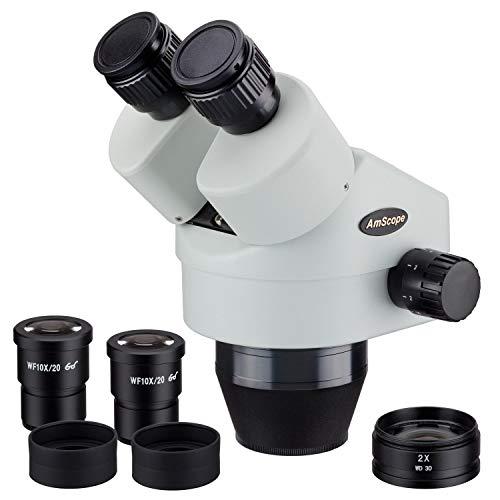 AmScope SM790B 7X-90X Binocular Zoom Alimentaci-n Stereo Head Microscopio