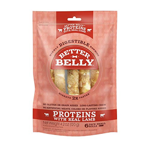 Better Belly Proteins with Real Lamb Small Rolls, Dog Chews, 6 Count