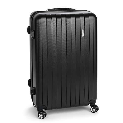 BUGATTI Cosmos Koffer, Hartschale, 66 cm, 58 Liter, 4 Rollen, Teleskopgriff, sehr robust, leicht, schwarz!