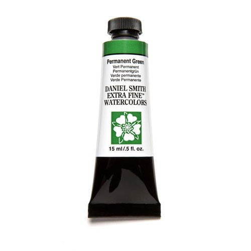 DANIEL SMITH Extra Fine Watercolor 15ml Paint Tube, Permanent Green