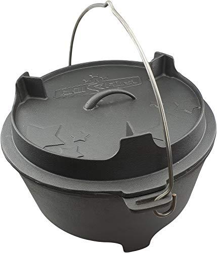 Grillfuerst Dutch Oven BBQ Edition DO12 v2 Gusseisen Feuertopf/Kochtopf