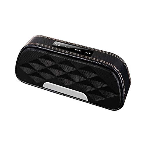 HIOD Bocina Bluetooth Material de Cuero Ultraportátil Mini Altavoz Inalámbrico Micrófono...