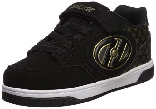 Heelys Unisex-Kinder Plus X2 Lighted (he100616) Sneaker, Schwarz (Black/Gold/Logo Black/Gold/Logo), 30 EU