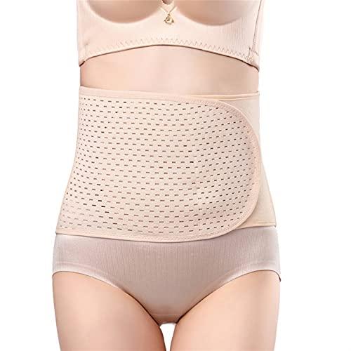 BBNB Cinturón abdominal para cintura posparto femenina con corsé de cintura para reducir la restricción del vientre, cinturón de plástico para el vientre (color albaricoque, tamaño: talla única)