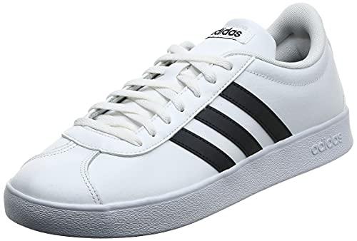 adidas VL Court 2.0, Zapatillas Hombre, Blanco (Footwear White/Core Black/Core Black 0), 43 1/3 EU