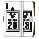 DeinDesign Étui Compatible avec Huawei P30 Lite Premium Étui Folio Étui magnétique Mickey Disney...