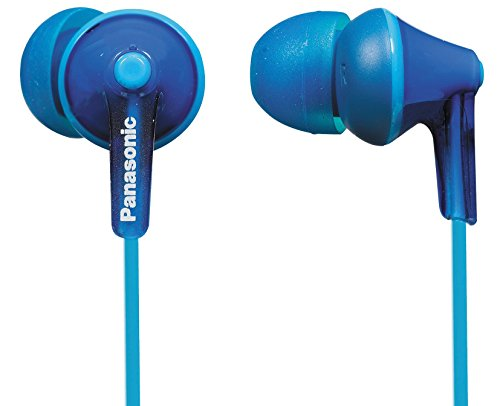 Panasonic RP-HJE125 In-Ohr-Kopfhörer (Drei Paar Pass-Stücke, 10-24.000 Hz, 1,1 m Kabel) blau