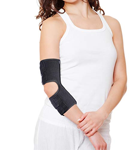 Elbow Brace for Cubital Tunnel Syndrome Adjustable Elbow Splint Arm Ulnar Nerve Brace Support Tendonitis and Arthritis Pain Relief,Post Surgery Immobilizer Medical Stabilizer,Fits Both Arms and Unisex (M)