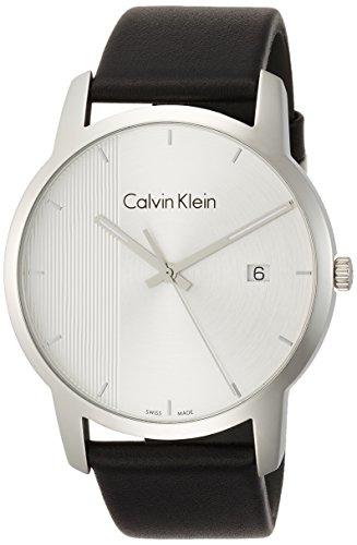 Calvin Klein Herren Analog Quarz Uhr mit Leder Armband K2G2G1CX
