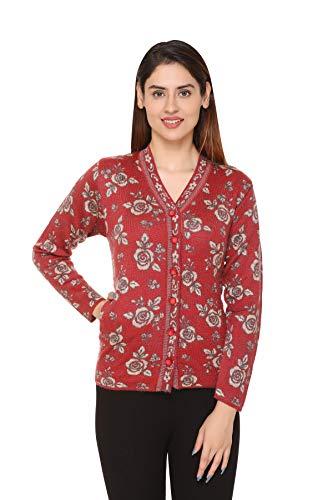 PIPASA Women Ladies Girls Winter Wear Woolen Button Top Cardigans Sweaters Maroon