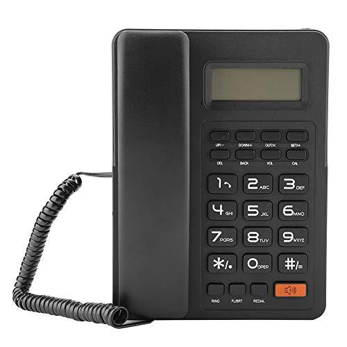 Queen.Y Teléfono con Cable Escritorio Teléfono Fijo Pantalla Grande Pantalla de Identificación de Llamadas Oficina en Casa con Cable Teléfono Fijo sin Batería para Oficina en Casa
