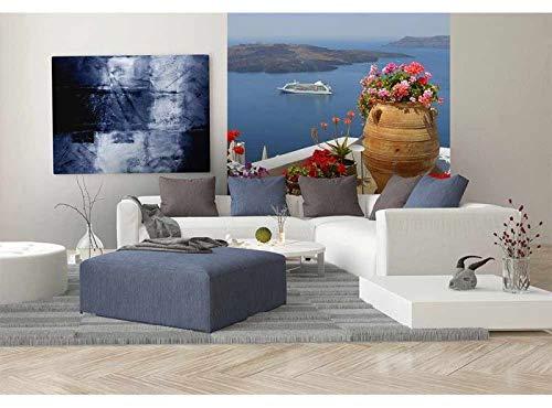 Vlies Fotobehang GRIEKENLAND | Niet-Geweven Foto Mural | Wall Mural - Behang - Reusachtige Wandposter | Premium Kwaliteit - Gemaakt in de EU | 225 cm x 250 cm