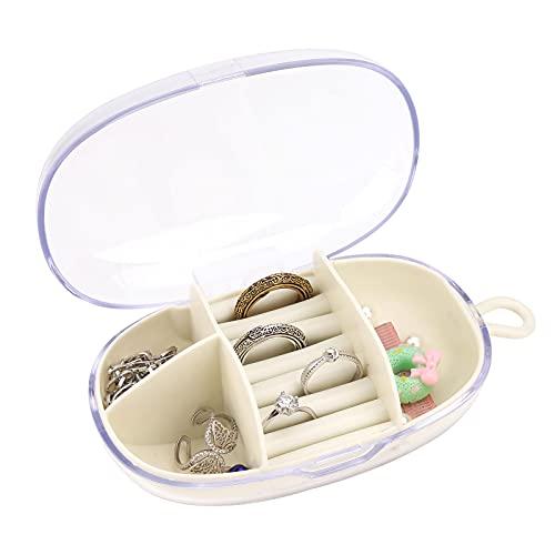 TSLBW Joyero Pequeño Caja Joyero Pequeña Joyero Portátil de Viaje Caja de Joyas de Viaje Joyero Jewelry Organizer para Collares Anillos Joyas Arete Organizador Regalo para Niña Mujer Madre