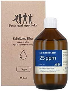 Kolloidales Silber 25ppm (500 ml) aus Apotheken-Herstellung – 100% natürliches,..