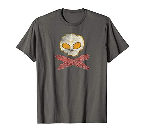 Eggs and Bacon Keto Breakfast Pirate Skull product T-Shirt