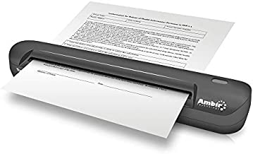 $149 » Ambir TravelScan Pro 600 Simplex Document Scanner with AmbirScan Receipt Software