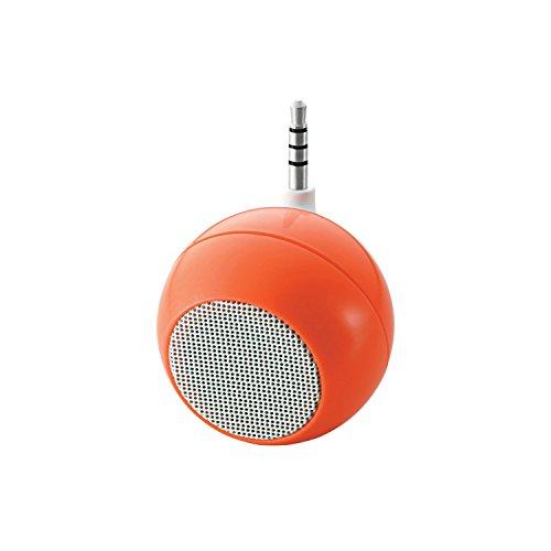エレコム コンパクトスピーカー iphone USB充電式 オレンジ ASP-SMP050DR