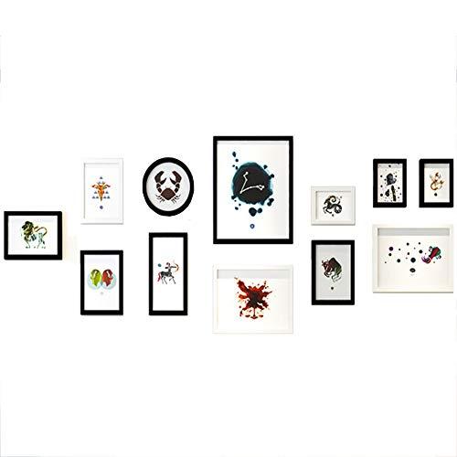Twaalf sterrenbeelden, Meerdere Frames, Decoratieve schilderijen, Creatieve Combinatie, Muur schilderijen, Wandbehang, Woonkamer, Slaapbank, Art Deco Frame