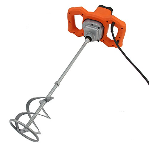T-Mech Hand-Held Electric Paddle Mixer 1600W Plaster Mixing Tool Paint Stirrer M14 140mm Mixing Paddle 230v 13A UK Plug