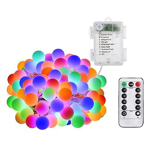 Luces de cadena de luces LED multicolor a prueba de agua Bola de globo estrellada de hadas (5m)