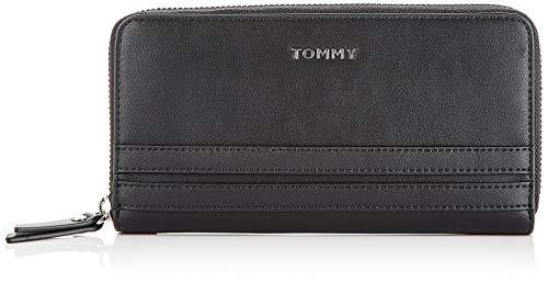 Tommy Hilfiger Damen Tommy Staple Lrg Za Wallet Geldbörse Schwarz (Black)