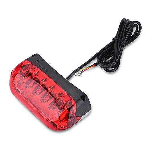 Demeras E-Bike Warnleuchte Elektrische Fahrradbremse Heckleuchte LED-Licht 36V Fahrradzubehör