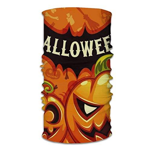 AOOEDM - Patrón de vectores sin costuras de Halloween con momia sosteniendo velas en la cara, pañuelos para el cuello, para mujeres y hombres, medio pasamontañas, bufanda para la cara, máscaras de tu