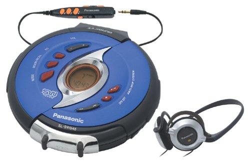 Panasonic SL-SW945A Shockwave Portable CD Player, Blue