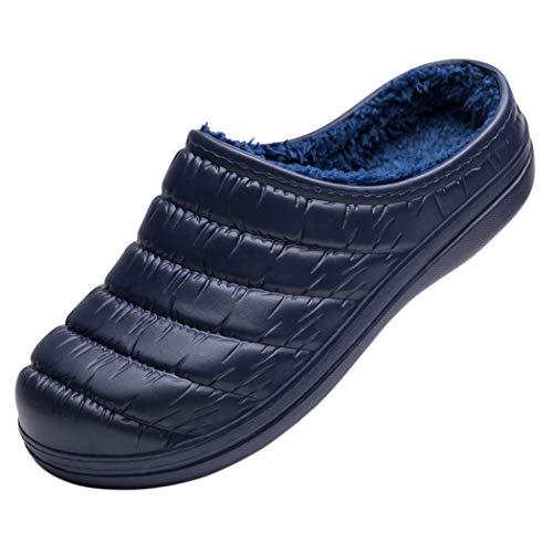 Ranberone Zuecos Mujer Invierno Pantuflas Zapatillas
