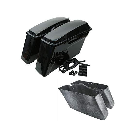 TCMT Hard Saddle bags Saddlebag Trunk Fits For Harley HD Road King DYNA Sportster 1994 1995 1996 1997 1998 1999 2000 2001 2002 2003 2004 2005 2006 2007 2008 2009 2010 2011 2012 2013