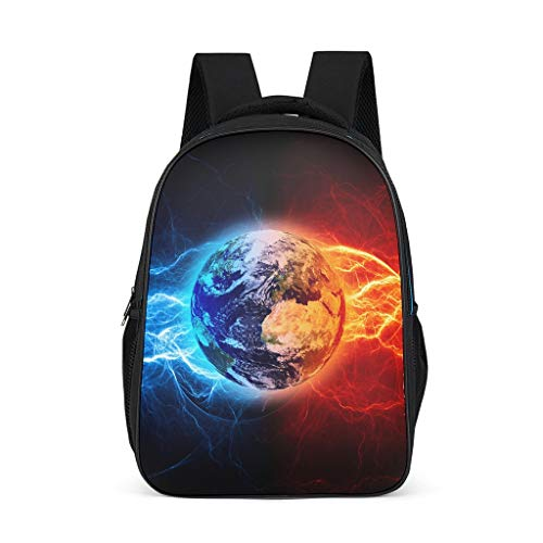 Earth Little Kid's Kindergarten Backpack Classic Causal for Gift Tai Ji grey onesize